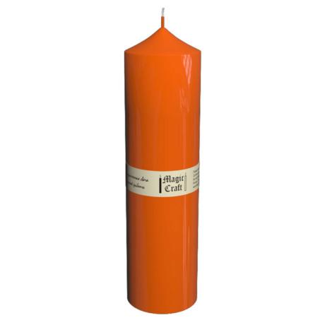 Свеча колонна 22 см оранжевая